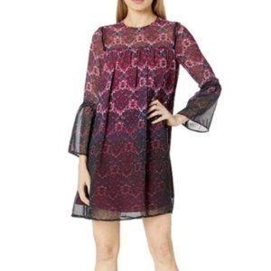 NWT Floral Nanette Lepore Plum Shift Dress